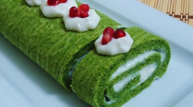 Yeşil Elma Ispanaklı Rulo Pasta Tarifi 14.04.2015