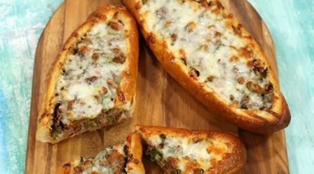 Arda'nın Mutfağı Kuşbaşılı Kaşarlı Ekmek Pidesi Tarifi 19.02.2017