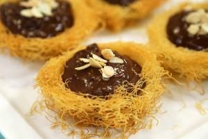 Arda'nın Ramazan Mutfağı Çikolata Muhallebili Kadayıf Çanakları Tarifi 07.06.2017