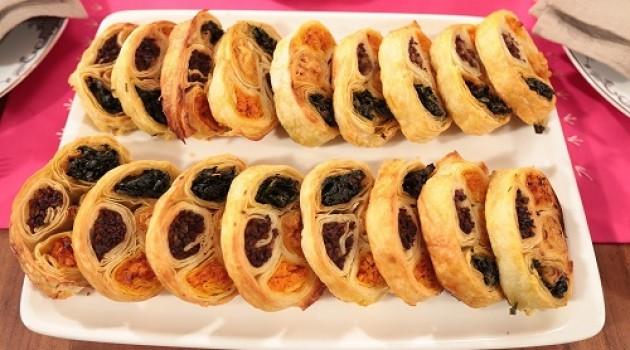 Nursel'in Mutfağı Çay Saati Menüsünden Dört Renkli Börek Tarifi 08.03.2016