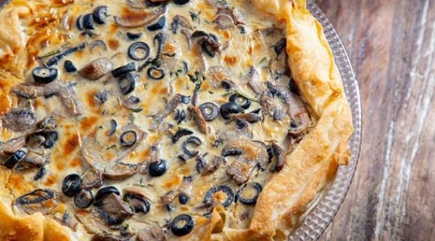 Arda'nın Mutfağı Mantarlı Peynirli Tart Tarifi 13.02.2021