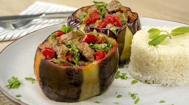 Gelinim Mutfakta Fırında Kuşbaşı Etli Bostan Patlıcan  Tarifi 14.06.2021